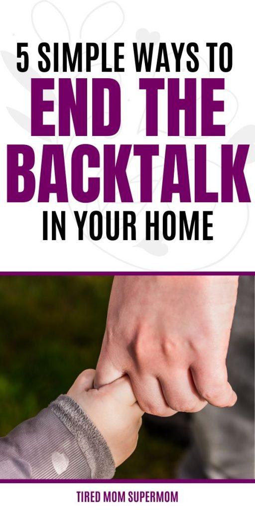 end the backtalk