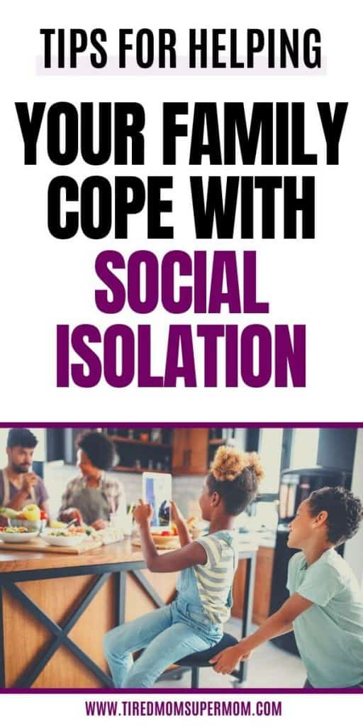 cope with social isolation