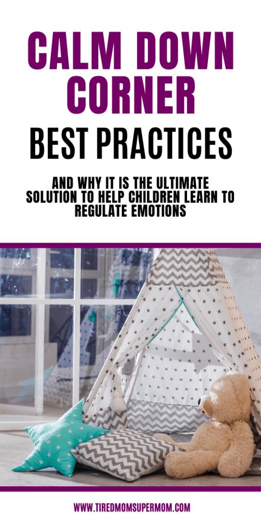 calm down corner best practices