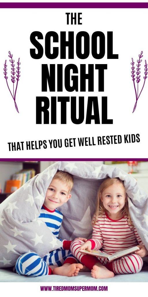 school night ritual pin image