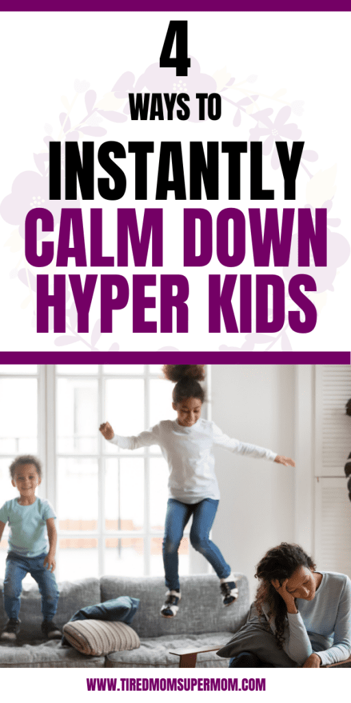 calm down hyper kids