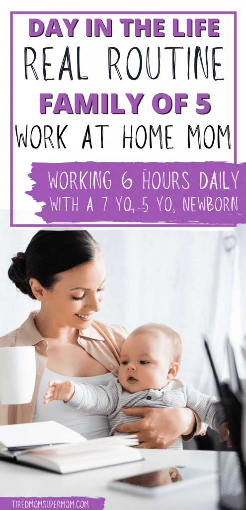 work at home mom routine